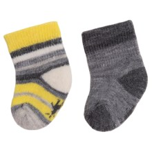 SmartWool Bootie Batch Socks - Merino Wool (For Infants) in Light Gray Heather - 2nds