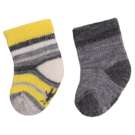 SmartWool Bootie Batch Socks - Merino Wool (For Infants) in Light Gray Heather