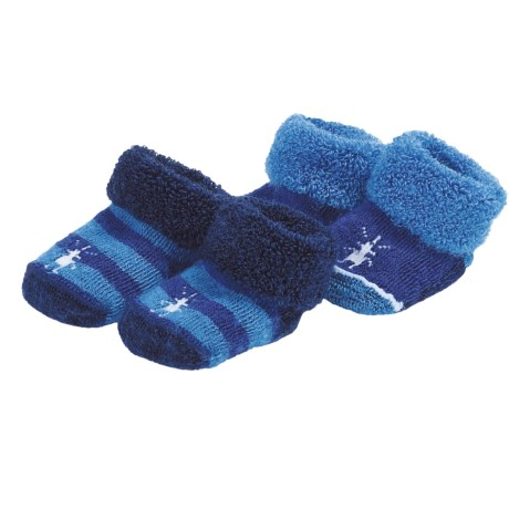 SmartWool Bootie Batch Socks - Merino Wool (For Infants) in Berry/Grey