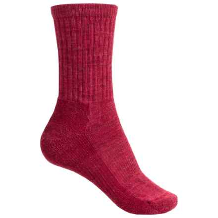 SmartWool Brilliant Hike Light Socks - Merino Wool, Crew (For Women) in Persian Red - Closeouts
