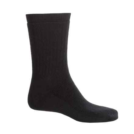 SmartWool Brilliant Hike Medium Socks - Merino Wool, Crew (For Men and Women) in Black - Closeouts