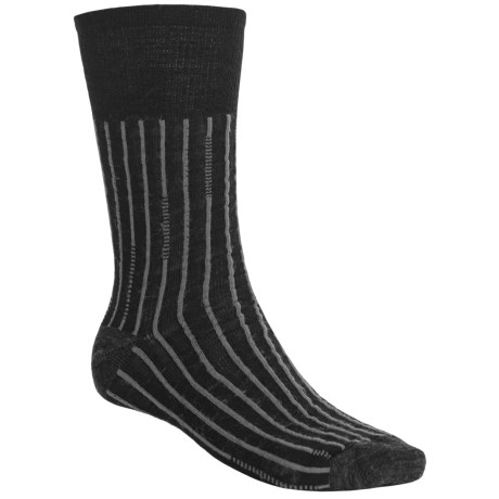 SmartWool Broken Pinstripe Socks - Merino Wool, Crew (For Men and Women) in Black