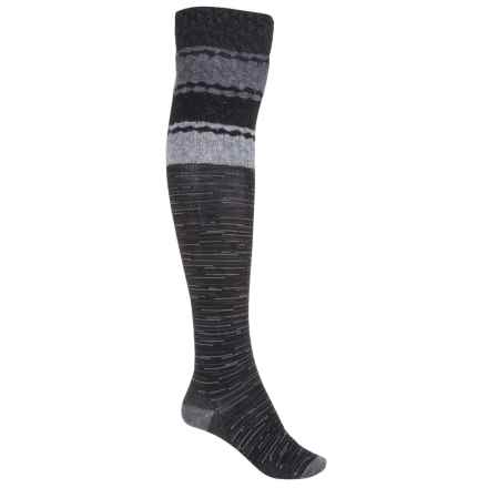 SmartWool Built Up Beehive Socks - Merino Wool, Over the Knee (For Women) in Black - Closeouts