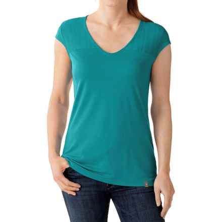 SmartWool Burnout Combo T-Shirt - Short Sleeve (For Women) in Capri - Closeouts
