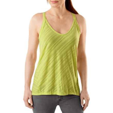 SmartWool Burnout Tank Top - Merino Wool, Racerback (For Women) in Citron - Closeouts