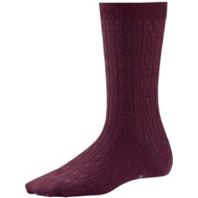 SmartWool Cable II Socks - Merino Wool, Crew (For Women) in Aubergine Heather - 2nds