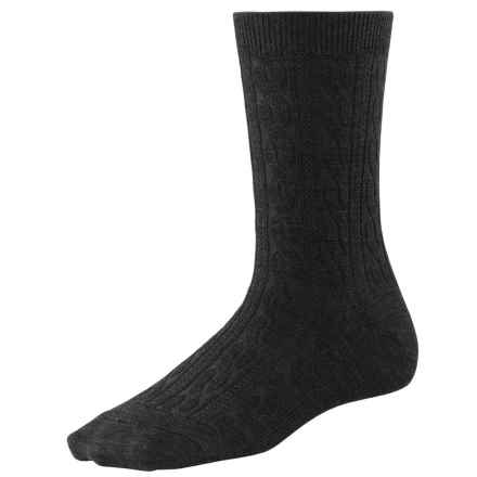 SmartWool Cable II Socks - Merino Wool, Crew (For Women) in Black - 2nds