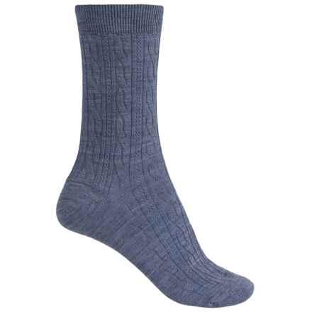 SmartWool Cable II Socks - Merino Wool, Crew (For Women) in Blue Steel Heather - 2nds