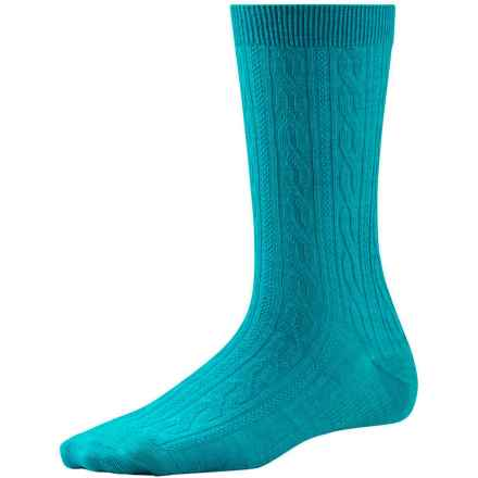 SmartWool Cable II Socks - Merino Wool, Crew (For Women) in Capri - 2nds
