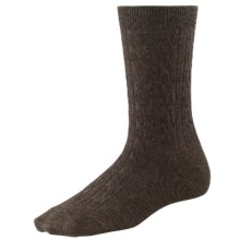 SmartWool Cable II Socks - Merino Wool, Crew (For Women) in Chesnut Heather - 2nds