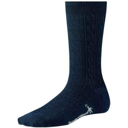 SmartWool Cable II Socks - Merino Wool, Crew (For Women) in Deep Navy Heather - 2nds