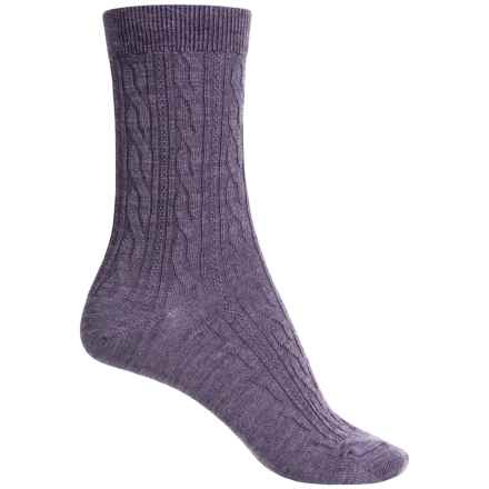 SmartWool Cable II Socks - Merino Wool, Crew (For Women) in Desert Purple Heather - 2nds