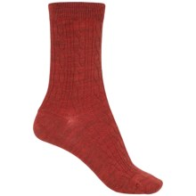 SmartWool Cable II Socks - Merino Wool, Crew (For Women) in Moab Rust Heather - Closeouts