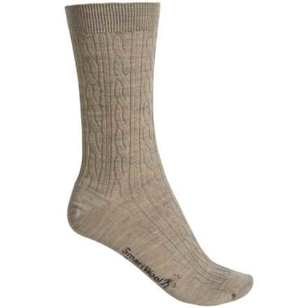SmartWool Cable II Socks - Merino Wool, Crew (For Women) in Oatmeal Heather - 2nds