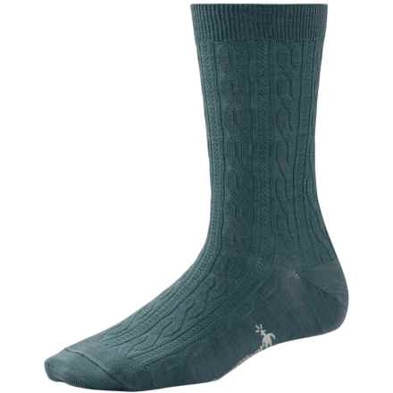 SmartWool Cable II Socks - Merino Wool, Crew (For Women) in Sea Pine Heather - 2nds