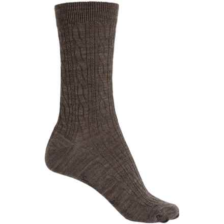 SmartWool Cable II Socks - Merino Wool, Crew (For Women) in Taupe - 2nds