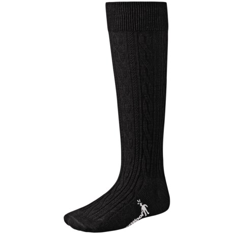 SmartWool Cable Knee-High Socks - Merino Wool, Lightweight (For Kids and Youth) in Black