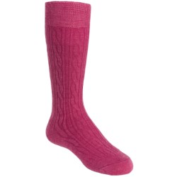 SmartWool Cable Knee-High Socks - Merino Wool, Lightweight (For Kids and Youth) in Deep Navy Heather