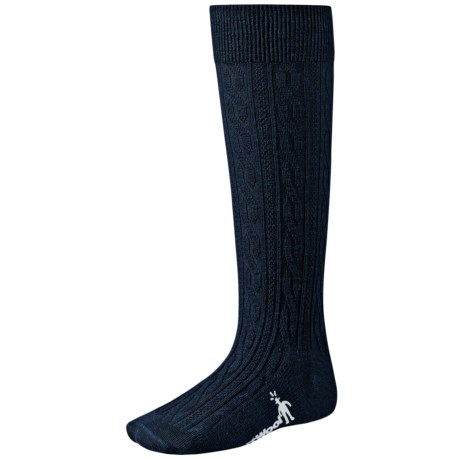 SmartWool Cable Knee-High Socks - Merino Wool, Lightweight (For Little and Big Kids) in Black