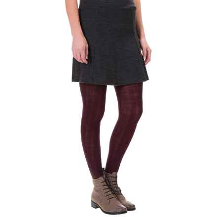 SmartWool Cable-Knit Tights - Merino Wool (For Women) in Aubergine Heather - Closeouts