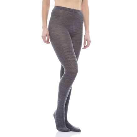 SmartWool Cable-Knit Tights - Merino Wool (For Women) in Medium Gray - Closeouts