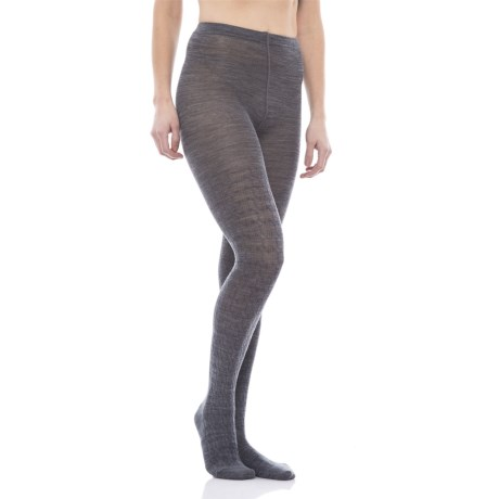 SmartWool Cable-Knit Tights - Merino Wool (For Women) in Medium Gray