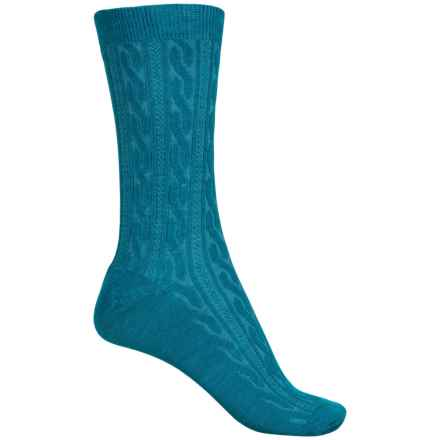 SmartWool Cable Socks - Merino Wool, Crew (For Women) in Dark Royal - Closeouts