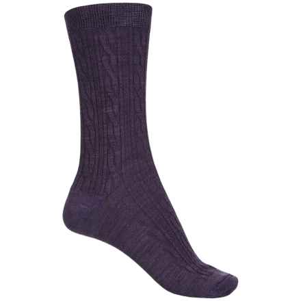 SmartWool Cable Socks - Merino Wool, Crew (For Women) in Desert Purple - Closeouts