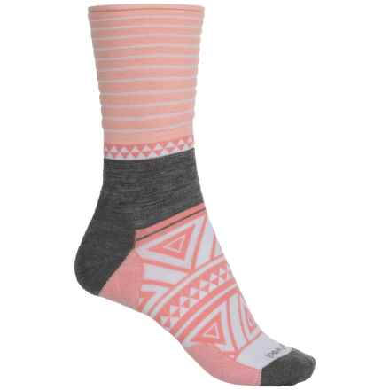 SmartWool Camp House Socks - Merino Wool, Crew (For Women) in Mineral Pink Heather - Closeouts