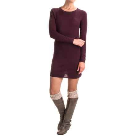 SmartWool Camp House Solid Sweater Dress - Merino Wool, Long Sleeve (For Women) in Aubergine Heather - Closeouts