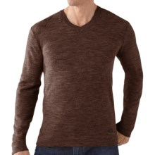 SmartWool Capitol Peak Sweater - V-Neck, Long Sleeve (For Men) in Espresso Heather - Closeouts
