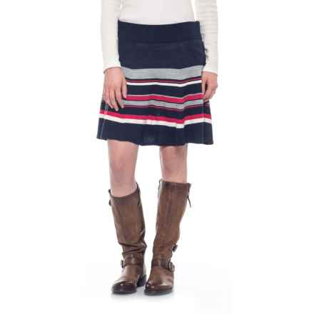 SmartWool Cascade Valley Skater Skirt - Merino Wool (For Women) in Deep Navy - Closeouts