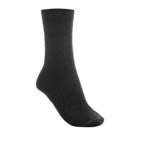 SmartWool Casual Cable-Knit Socks - Merino Wool (For Women) in Black
