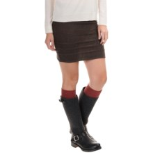 SmartWool Caverna Cable Skirt - Merino Wool (For Women) in Chocolate Heather - Closeouts