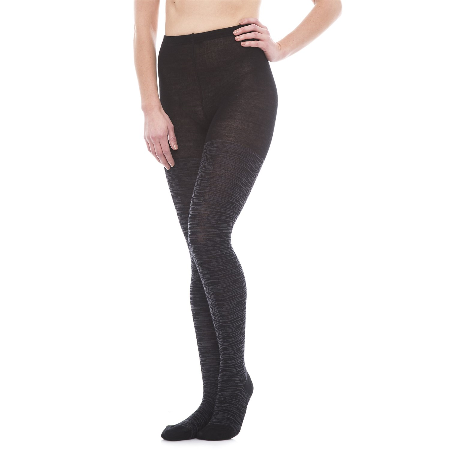 Womens Wool Tights Striped Patterned-3598