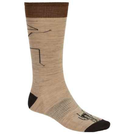 SmartWool Charley Harper Asiatic Walking Stick Socks - Merino Wool, Mid Calf (For Men) in Oatmeal Heather - Closeouts