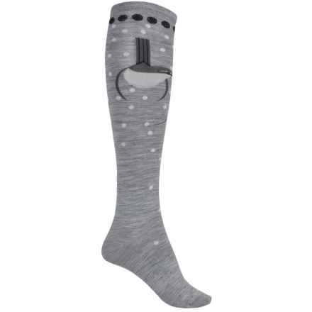 SmartWool Charley Harper Homeward Bound Socks - Merino Wool, Over the Calf (For Women) in Light Gray Heather - Closeouts