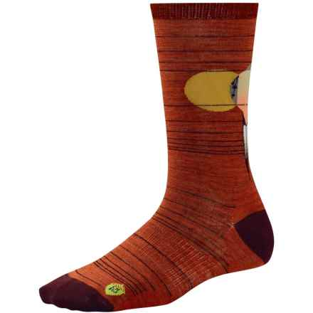SmartWool Charley Harper Lovey Dovey Socks - Merino Wool, Crew (For Women) in Moab Rust Heather - Closeouts