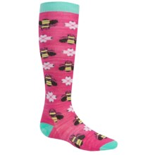 SmartWool Charley Harper Monteverde Knee Socks - Merino Wool (For Little and Big Girls) in Bright Pink - Closeouts