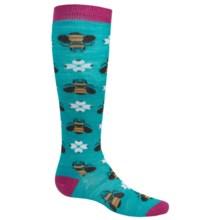 SmartWool Charley Harper Monteverde Knee Socks - Merino Wool (For Little and Big Girls) in Capri - Closeouts