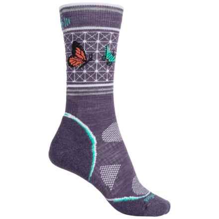 SmartWool Charley Harper PhD Outdoor Socks - Merino Wool, Crew (For Women) in Desert Purple - Closeouts