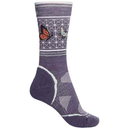 SmartWool Charley Harper PhD Outdoor Socks - Merino Wool, Crew (For Women) in Desert Purple - 2nds