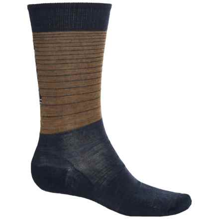 SmartWool Charley Harper Roadrunner Socks - Merino Wool, Crew (For Men) in Caramel Heather - 2nds