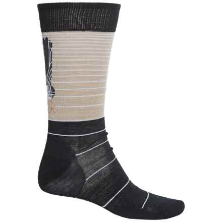 SmartWool Charley Harper Roadrunner Socks - Merino Wool, Crew (For Men) in Oatmeal Heather - 2nds