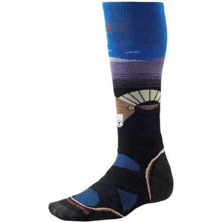SmartWool Charley Harper Santa Rosa/Jacinto National Monument Ski Socks - Merino Wool, Over the Calf (For Men and Women) in Black - Closeouts