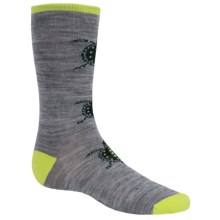 SmartWool Charley Harper Survival Savvy Socks - Merino Wool, Crew (For Little and Big Boys) in Light Gray Heather - Closeouts