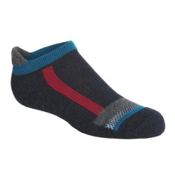 SmartWool Checkered Stripe Socks - Merino Wool (For Kids) in Navy Heather