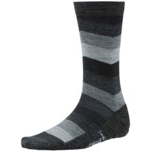 SmartWool Chevron Stripe Socks - Merino Wool, Crew (For Men) in Black - 2nds