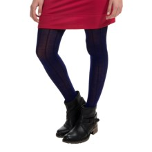 SmartWool Chevron Tights - Merino Wool Blend (For Women) in Ink Heather - Closeouts
