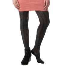SmartWool Chevron Tights - Merino Wool (For Women) in Black - Closeouts